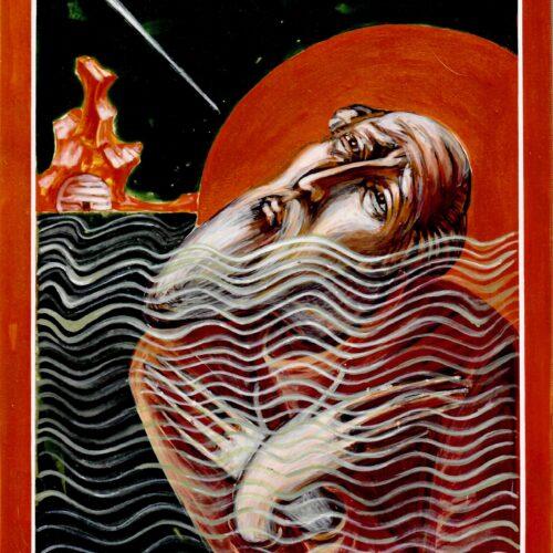 St Cuthbert Praying at Night - Portrait