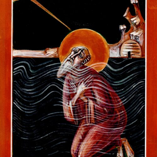 St Cuthbert Praying in the Sea