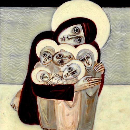 St Ita Holding Her Children