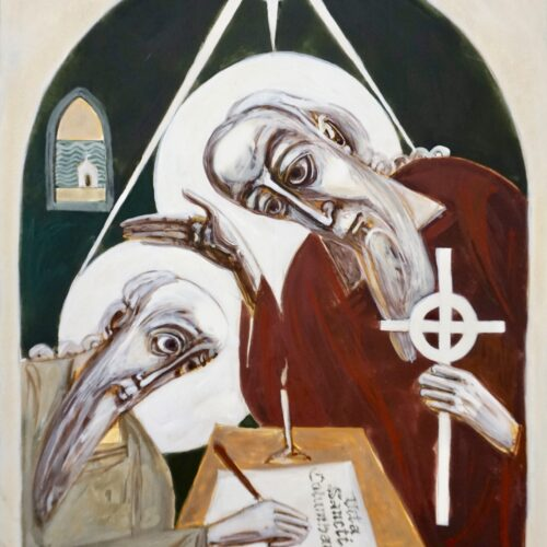 St Columba and St Adomnan